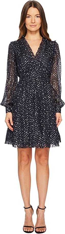 Kate Spade New York - Night Sky Lurex Dot Mini Dress