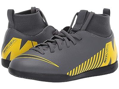 Nike Kids SuperflyX 6 Club IC (Toddler/Little Kid/Big Kid) (Dark Grey/Black/Opti Yellow) Kids Shoes