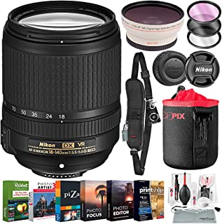 Nikon AF-S DX NIKKOR 18-140mm f/3.5-5.6G ED Vibration Reduction Zoom Lens for Nikon DSLR Cameras with Lens Pouch, Filters,...