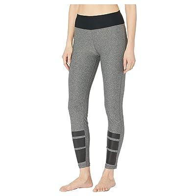 Bebe Sport Striped Leggings (Heather Grey/Racer Stripes) Women