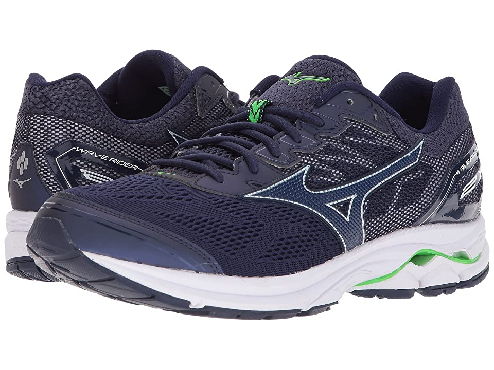 Mizuno Wave Rider 21 (Eclipse/Eclipse/Green Slime) Boys Shoes