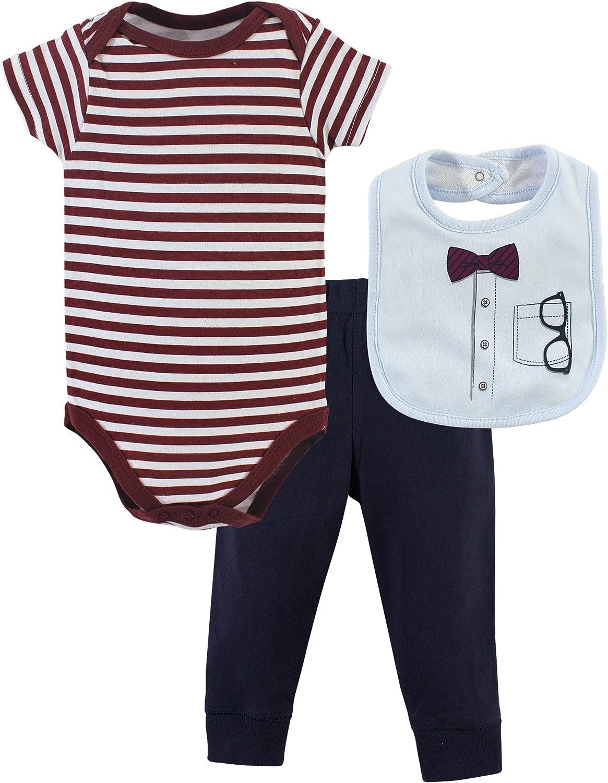 Little Treasure Unisex Baby Bodysuit, Pant and Bib