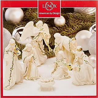 Lenox Holiday Xmas Nativity Porcelain 7 Pc set Holy Family, Three Kings, Angel