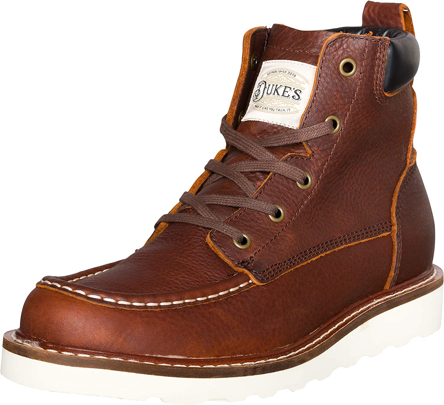 Duke's Mens Boots - Portland Leather Boot with Premium Cushion Insole