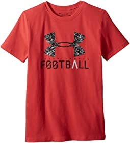 Under Armour Kids - UA Football Lockup Short Sleeve Tee (Big Kids)