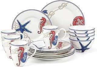 Lenox 16 Piece Oceanside Dinnerware Set, Multicolor