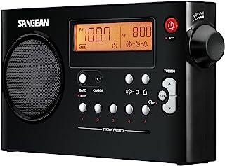 Sangean PR-D7 BK AM/FM Digital Rechargeable Portable Radio - Black (PR-D7BK)