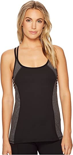 Studio Striped Blocked Studio Tank w/ Shelf Bra