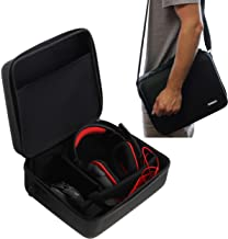 Navitech Black Hard Eva Carry Case Compatible with The Gaming Headset and Headphones Compatible with The Destiny 2 Razer ManO'War