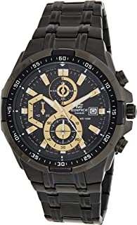 Casio Edifice For Men - Analog Stainless Steel Band Watch - Efr-539Bk-1Avudf, Black