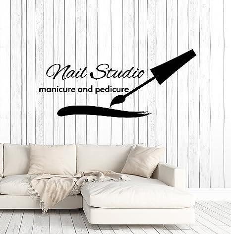 Nail Salon Wall Decal Manicure Pedicure Window Sticker Beauty Salon Spa Wall