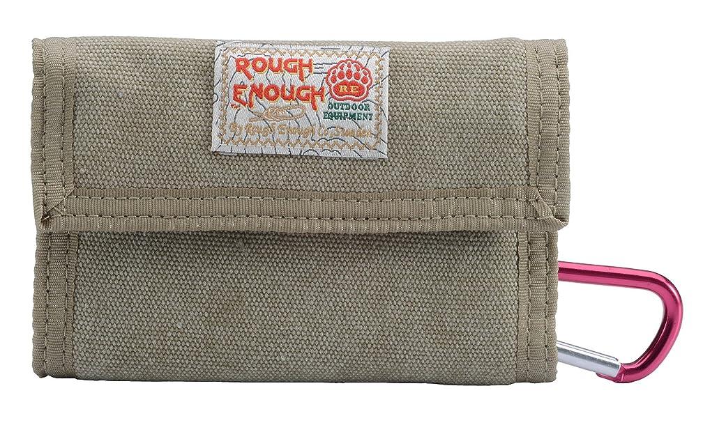 消費する回復ウィンクRough Enough 古典 多機能 収納 カジュアルなキャンバス財布 Canvas Classic Casual Wallet Purse (カーキ)