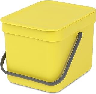 comprar comparacion Brabantia Sort & Go Cubo de Basura, Amarillo, 6 L