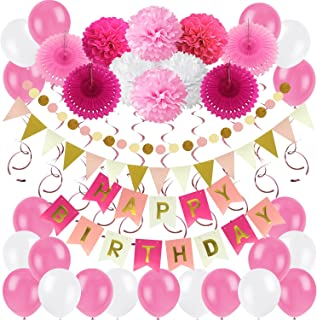 Best pretty in pink birthday party decorations Reviews