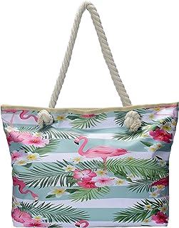 Bolso de Playa Grande Impermeable con Cremallera Bolso de Hombro Estilo Hawaiano