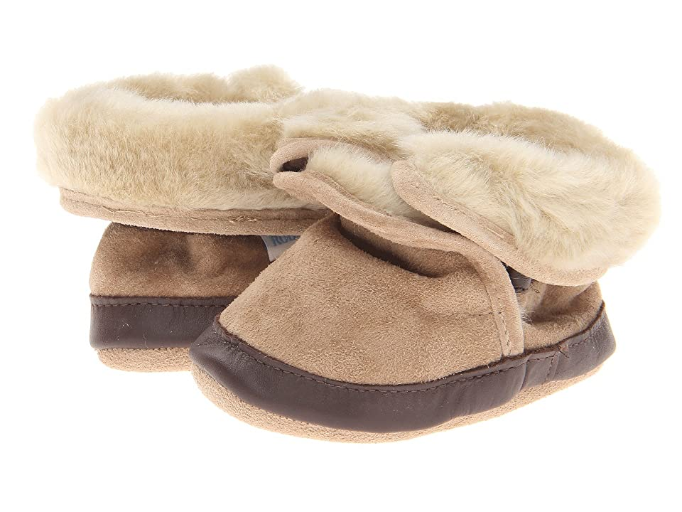 Robeez Cozy Ankle Bootie Bootie (Infant/Todder) (Taupe) Boys Shoes