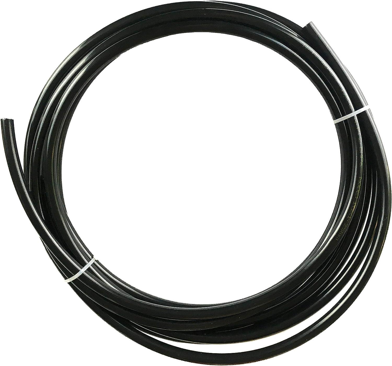 Nylon Tubing Fuel Line 3//16 inch OD Hose Vacuum Tube 0.11 ID 20 feet Black