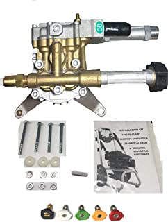 3100 PSI Power Pressure Washer Pump Upgraded Replaces Troy-Bilt 020344-1 020344-2. Includes 5 New QC Spray Nozzle Tips, Necessary to Help insure Proper Pressure and Flow