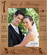 LifeSong Milestones 1st Anniversary Picture Frame 1 Year of Marriage - One Year Wedding Keepsake Gift for Parents Husband Wife him her - You'll Forever Be My Always (11.5x13.5)