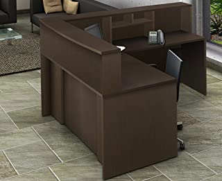 Office Reception Desk Reception Corner Collaboration Furniture Model 4292 4 Pc Group Contemporary Espresso Color. Update Your Spaces with Commercial Grade Reception Collaboration Furniture.