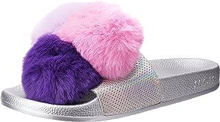 Slydes Slide Slippers For Women - Silver, 4 UK