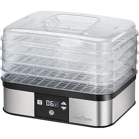 PROFI COOK PC-DR1116 - Déshydrateur automatique - En Acier inoxydable - réglage de la température électronique - Avec écran LCD- 350 Watts