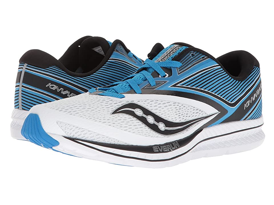 Saucony Kinvara 9 (White/Blue/Black) Men