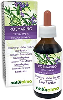 ROSMARIN Rosmarinus officinalis Blätter Alkoholfreier Urtinktur NATURALMA | Flüssig-Extrakt Tropfen 100 ml | Nahrungsergänzungsmittel | Veganer