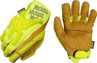 Mechanix Wear - CG Leather Hi-Viz Heavy Duty Gloves (Small, Fluorescent Yellow/Brown)