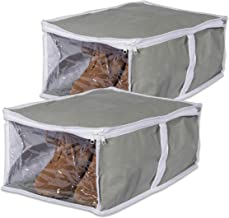 DII Breathable, Under the Bed or Closet Soft Storage Bag with Clear Viewing Window & Zipper Closure For Shoes (Fits 1 Pair...