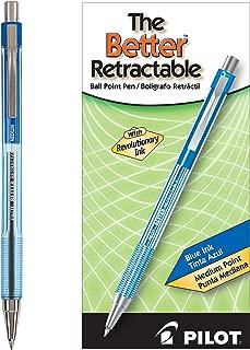 PILOT The Better Ball Point Pen Refillable & Retractable Ballpoint Pens, Medium Point, Blue Ink, 12 Count (30006)