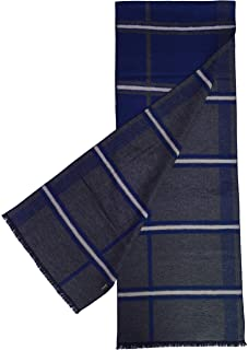 "11"" x 71"" Mens 100% Brushed Silk Scarf, Luxury Fashion Perfect Thanksgiving Gift Neck Wrap Winter Accessory"
