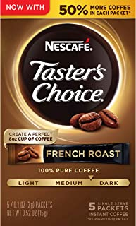Nescafe Taster's Choice Instant Coffee, French Roast, 0.52 Ounce (Pack of 12)