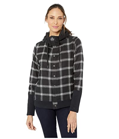 Marmot Stowe Heavyweight Flannel Long Sleeve Shirt (Black) Women