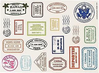Fun Express Passport Stamp Sticker Sheets (480 Stickers)