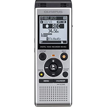 Olympus Voice Recorder WS-852 with 4GB, Automatic Mic Adjustment, Simple Mode, SILVER (V415121SU000)