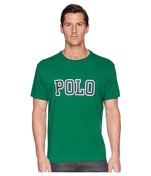 Shop Lauren Athletic Logo Print verde Polo Ralph Camiseta 5z7qttw