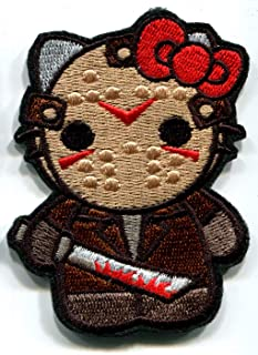 Hello Kitty AS Jason Military Patch Fabric Embroidered Badges Patch Tactical Stickers for Clothes with Hook & Loop