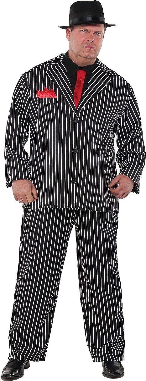 Vintage Men's Costumes – 1920s, 1930s, 1940s, 1950s, 1960s Adult Mob Boss Costume - Plus XXXL (54-56)  AT vintagedancer.com
