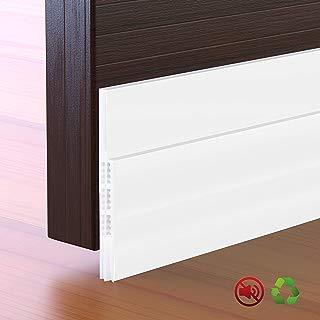"""Self-Adhesive Door Draft Stopper, 2 Pack Door Sweep Weather Stripping Under Door Seal for Exterior/Interior Door, Block Cold and Hot Air Cross, 2"""" W x 39"""" L, White"""