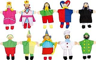 Small Foot 2951 marionnettes en Bois, pour Contes de fées et théâtre Kasperle, Fait et Peint à la Main, Lot de 10