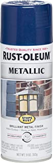 Rust-Oleum 7251830 Stops Rust Metallic Spray Paint, 11 oz, Cobalt Blue