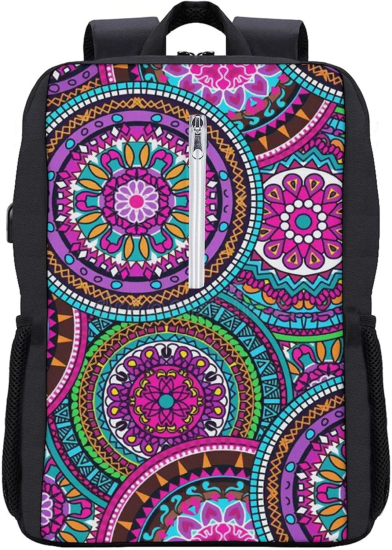 Seasonal Wrap Introduction Mandala Anti Theft Super Special SALE held Laptop Backpack with Bookbag Backpacks Travel