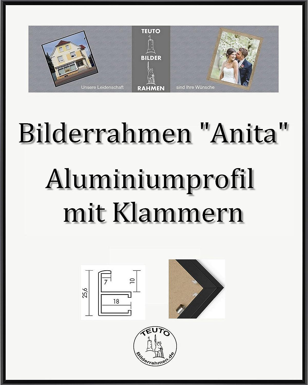 Disfruta de un 50% de descuento. Teuto-Bilderrahmen Anita Marco de Aluminio 46 x 63 cm Simple Simple Simple Firme Elegante con Vidrio acrílico antirreflexivo 2 mm en 10 Colors Diferentes aquí  Negro Pulido  servicio de primera clase