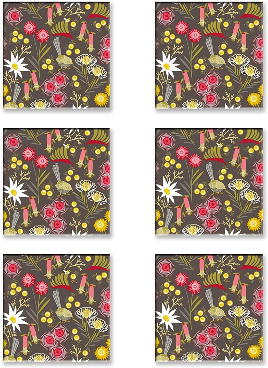 6 Pieces Square Drink Outstanding Coaster Moisture Absorbing Shipping included Heat-Res 4inch
