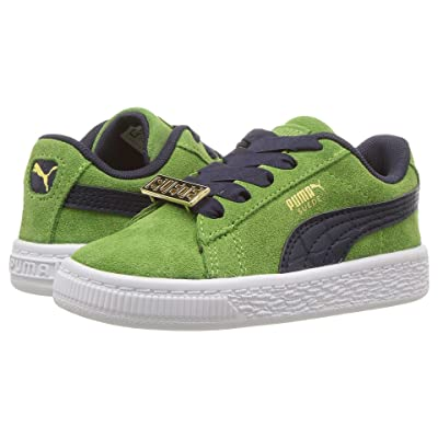 Puma Kids Suede Classic BBOY Fabulous (Toddler) (Forest Green/Turkish Sea) Boys Shoes