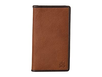 STS Ranchwear Frontier Long Bifold Wallet (Tan Leather) Checkbook Wallet