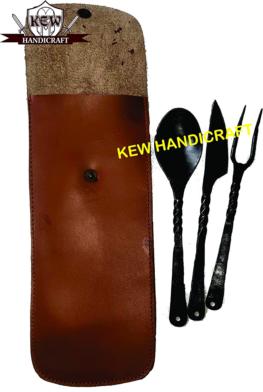 KEW HANDICRAFTS Medieval Popular overseas 55% OFF Renaissance Hand U Steel Forged Twisted