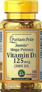 Puritan's Pride Vitamin D3 5000 IU-100 Softgels