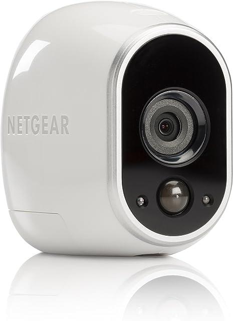 Arlo VMC3030 - Cámara de Seguridad y vigilancia IP 100% Libre de Cables con visión Diurna/Nocturna(cámara Adicional Montaje en Interior y Exterior Resistentes al Agua no Sumergible)
